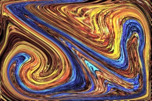 speed run swirl colors blue and yellow