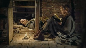 Book Thief reading to friend